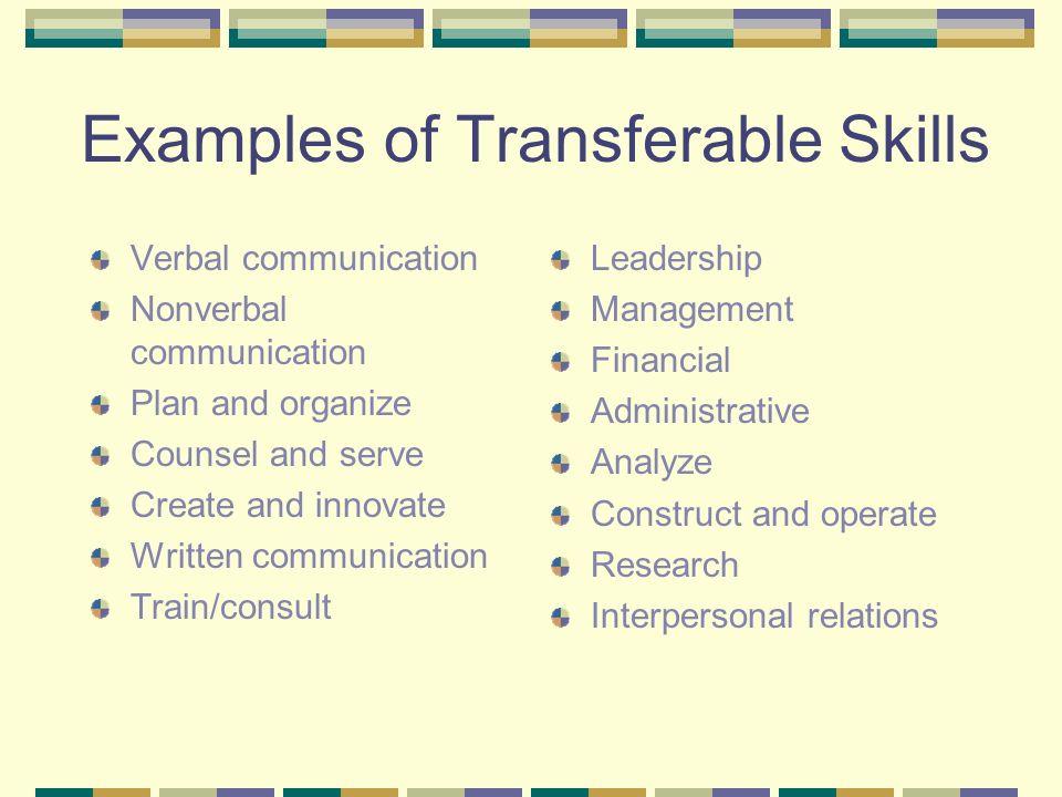 transferable skills examples