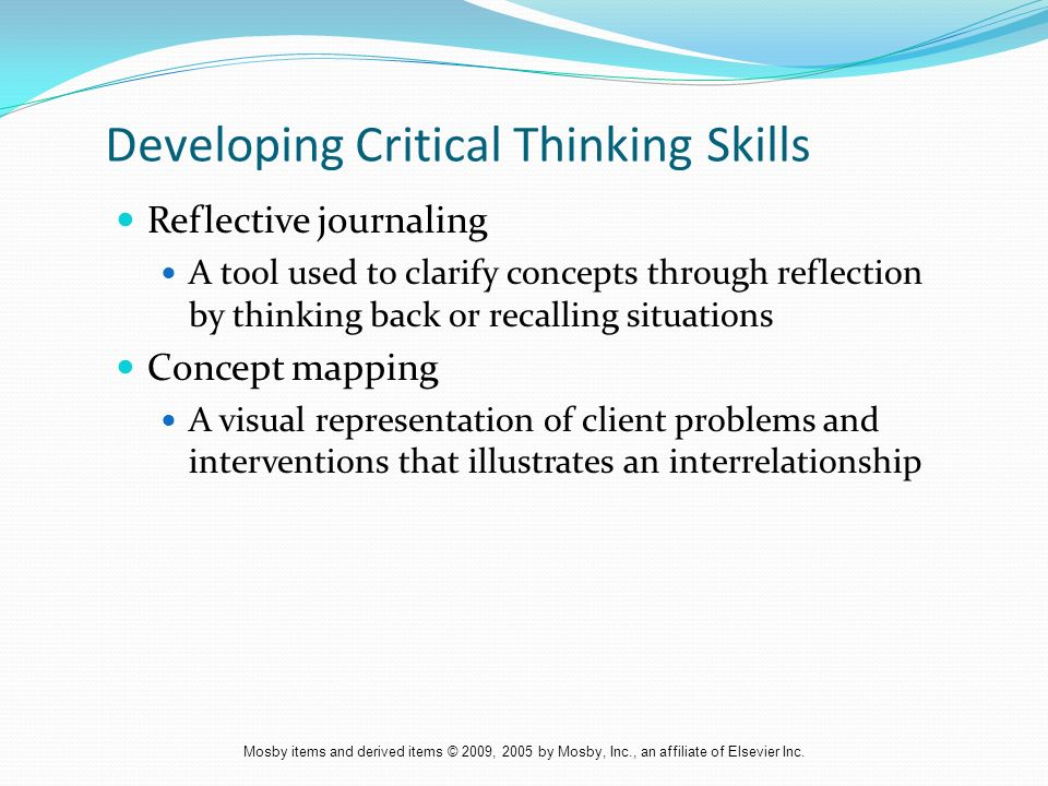 reflective journals and critical thinking Reflective thinking: turning a critical it has described how the author applied the reflective process to a critical learning journals and critical.