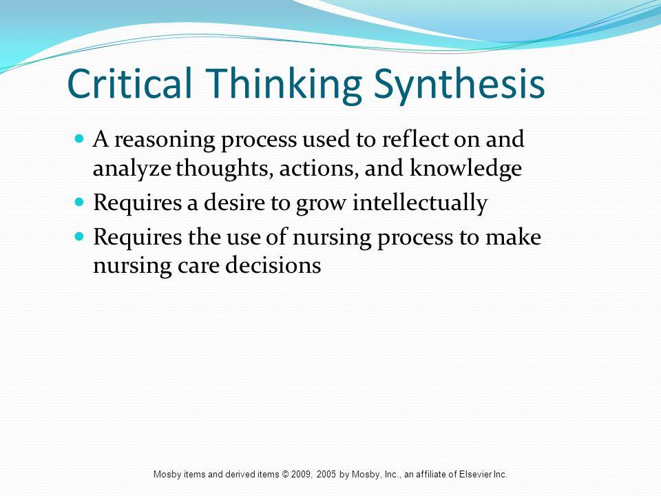 nursing critical thinking skills
