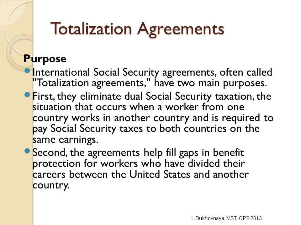 Inpatriate nonresident alien ppt video online download totalization agreements platinumwayz
