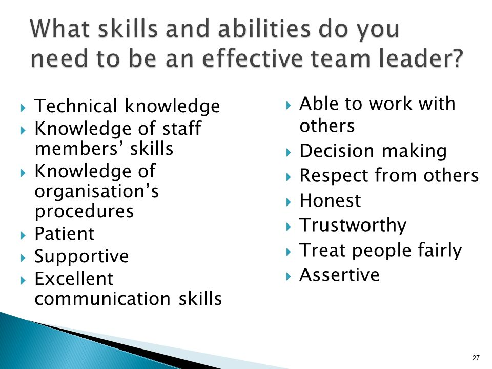 an introduction to being an effective team leader Leadership style introduction 1 the leader of a team can be placed in that position in this method is the most effective way of giving orders in a day to.