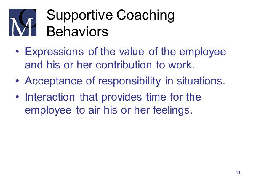 Supportive Coaching Behaviors