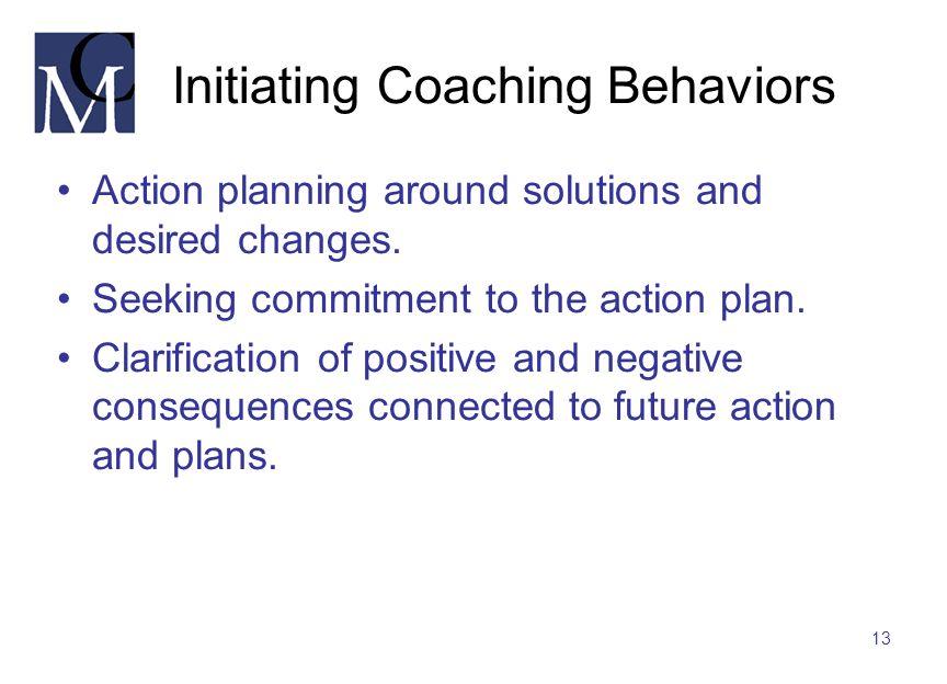 Initiating Coaching Behaviors