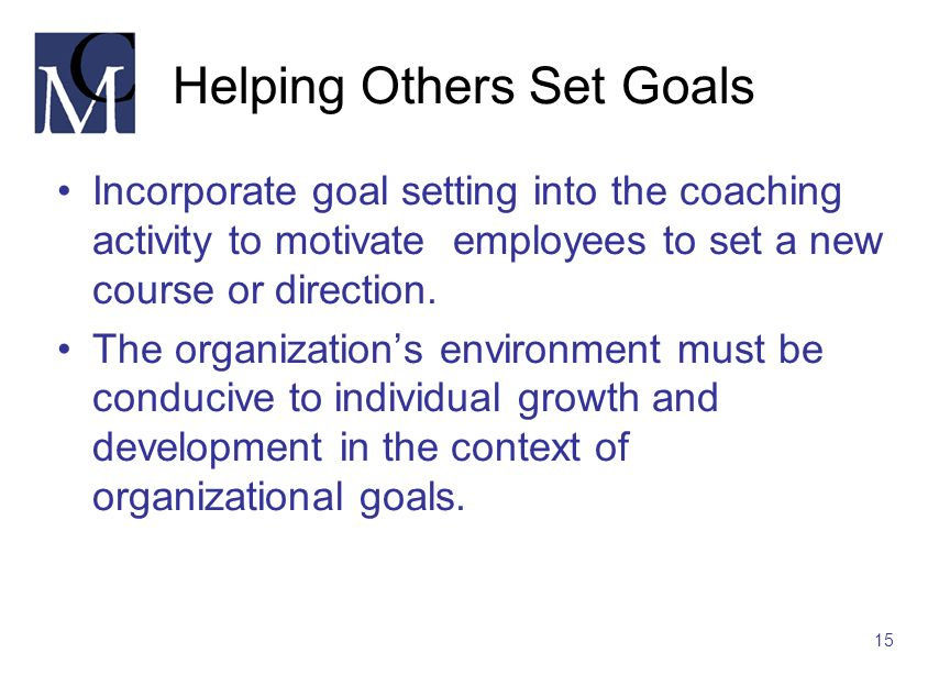 Helping Others Set Goals