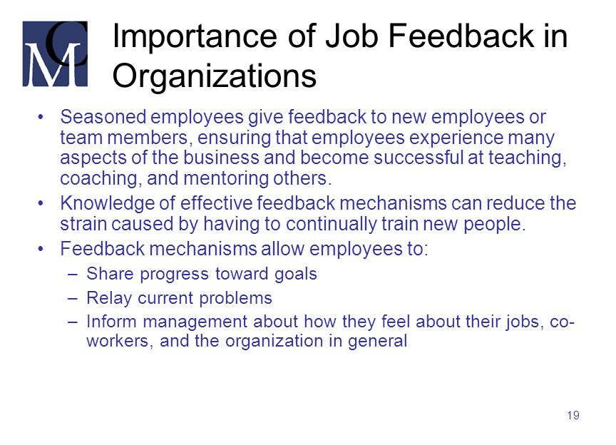 Importance of Job Feedback in Organizations