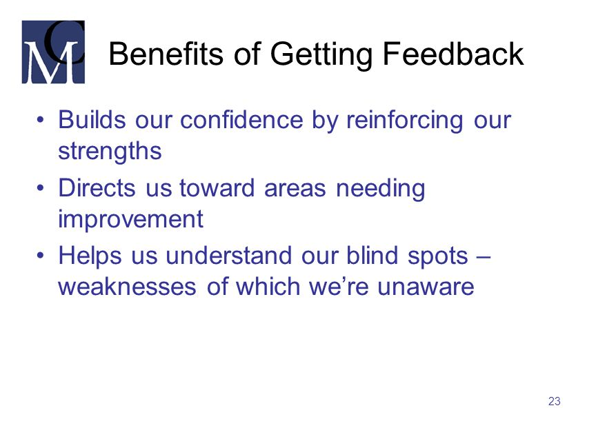 Benefits of Getting Feedback