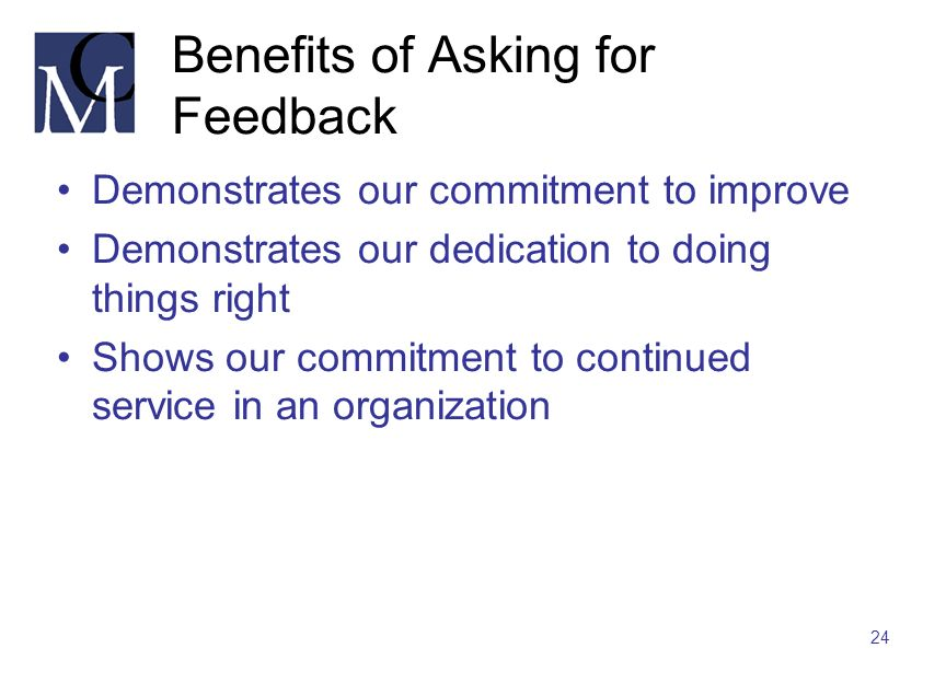 Benefits of Asking for Feedback