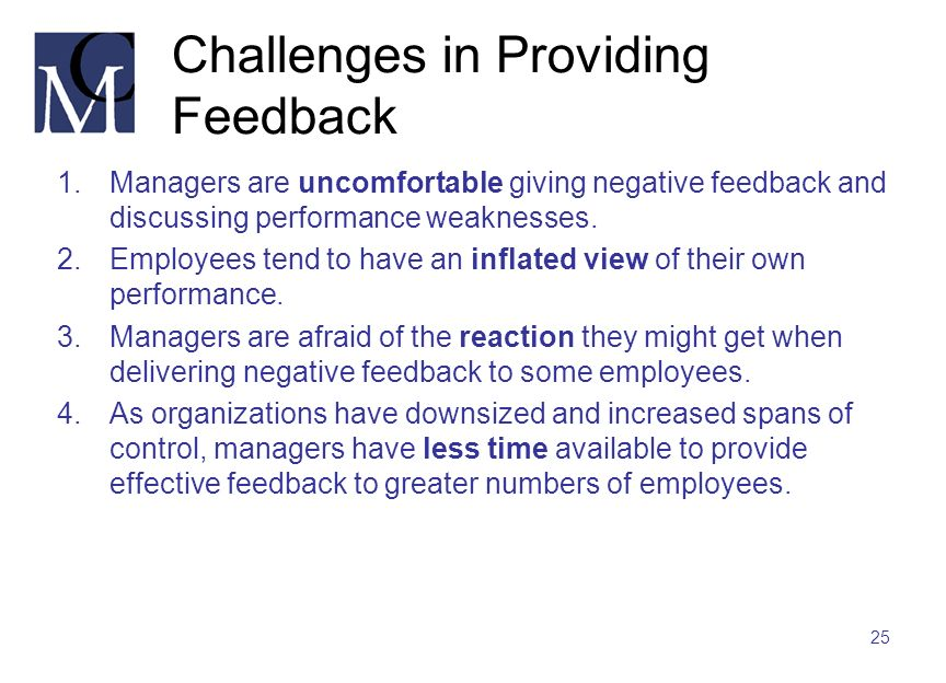 Challenges in Providing Feedback