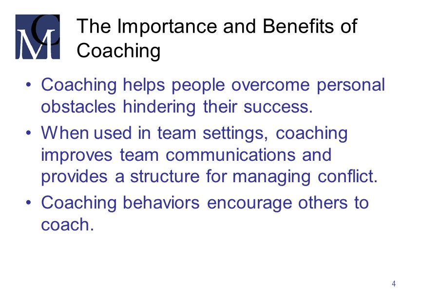 The Importance and Benefits of Coaching