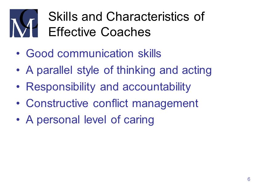 Skills and Characteristics of Effective Coaches