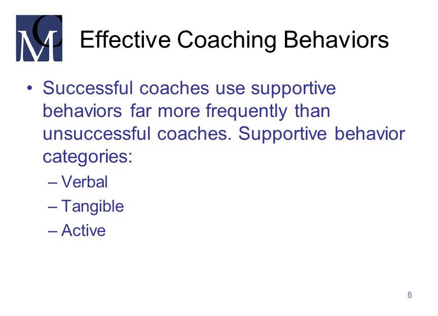 Effective Coaching Behaviors