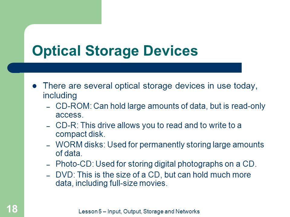 OPTICAL STORAGE DEVICES, INC.
