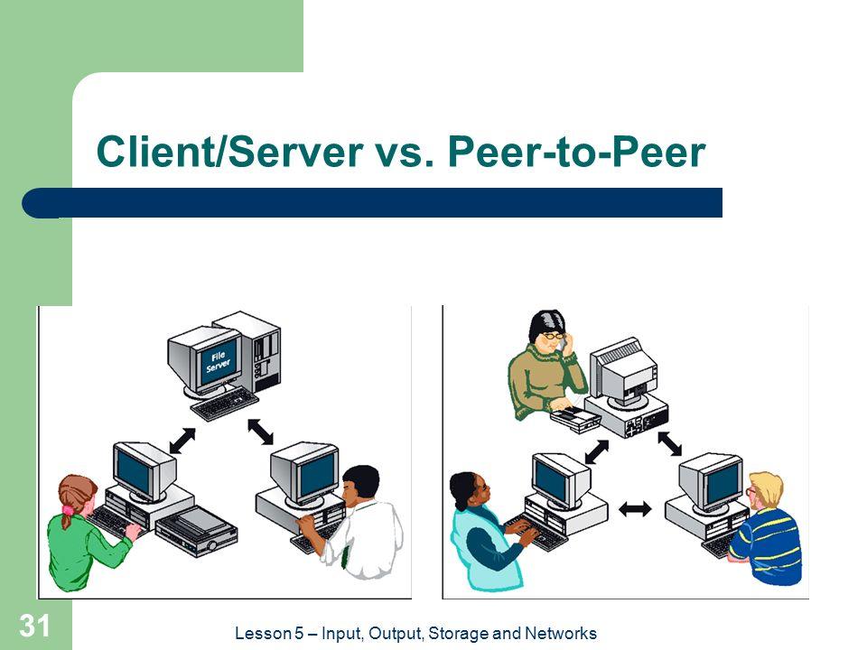 Client/Server vs. Peer-to-Peer