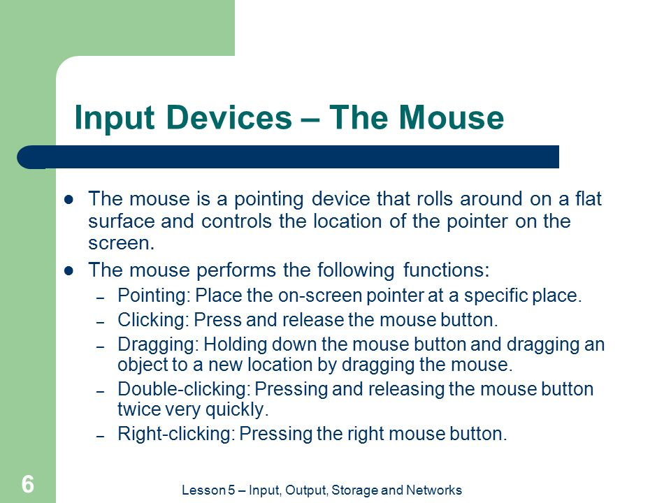Input Devices – The Mouse