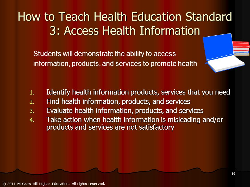 How to Teach Health Education Standard 3: Access Health Information