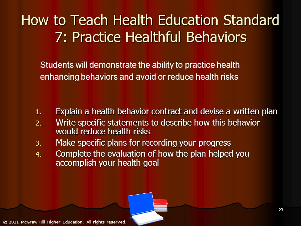 How to Teach Health Education Standard 7: Practice Healthful Behaviors