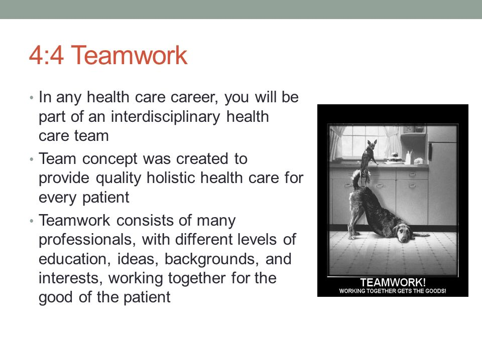 teamwork health care and team members Discussing the importance of teamwork members of the healthcare team come together and have the patient care their main focus all nursing stages will reach their.