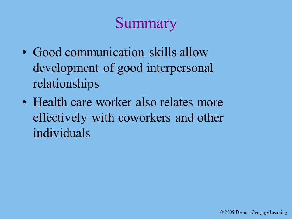 Communication skills required for holistic nursing care patients