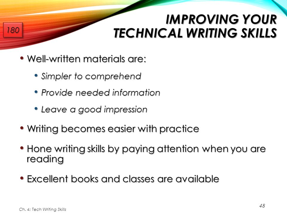 chapter technical writing skills for support professionals  improving your technical writing skills