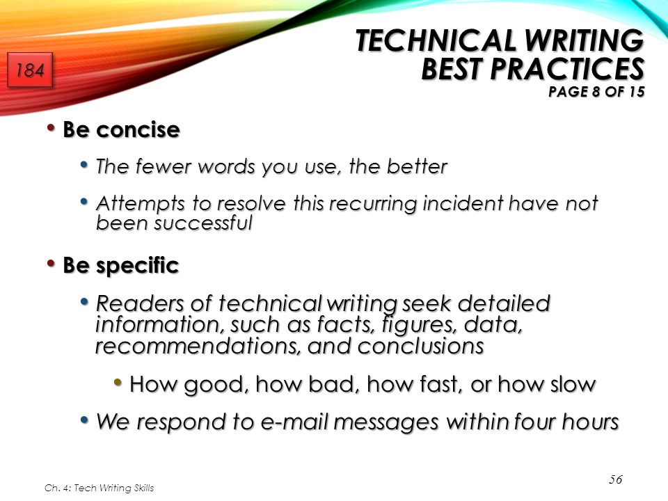 Technical Writing Best Practices