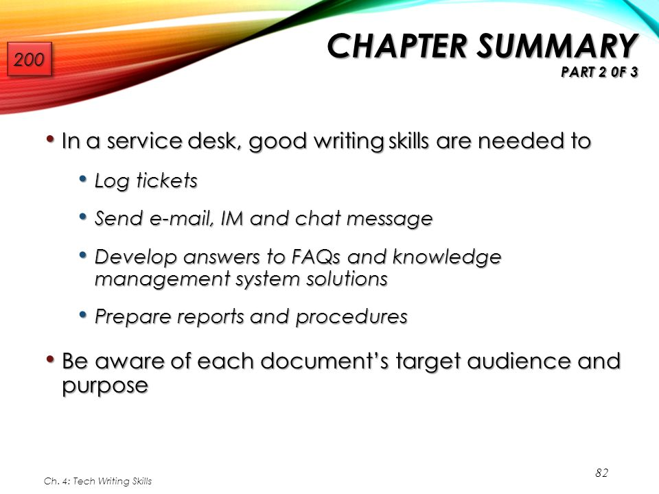 chapter technical writing skills for support professionals  in a service desk good writing skills
