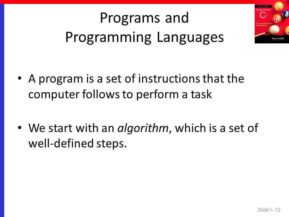 Programs and Programming Languages