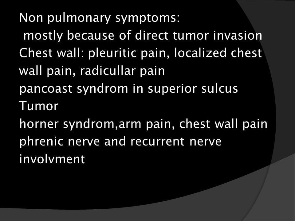 cancer visceral symptômes