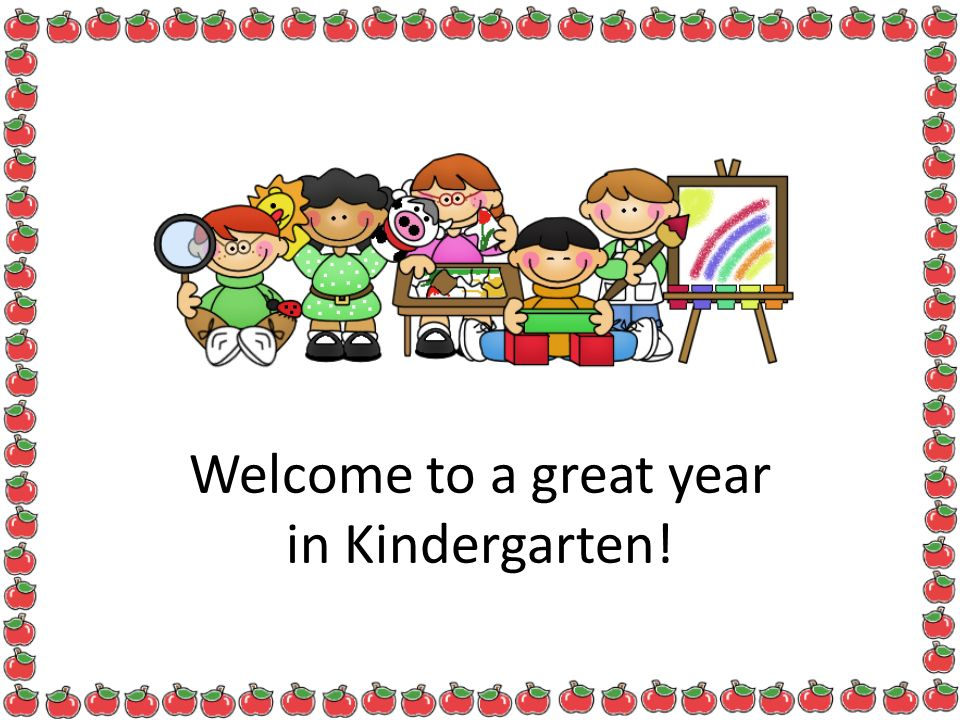 Welcome to a great year in Kindergarten!