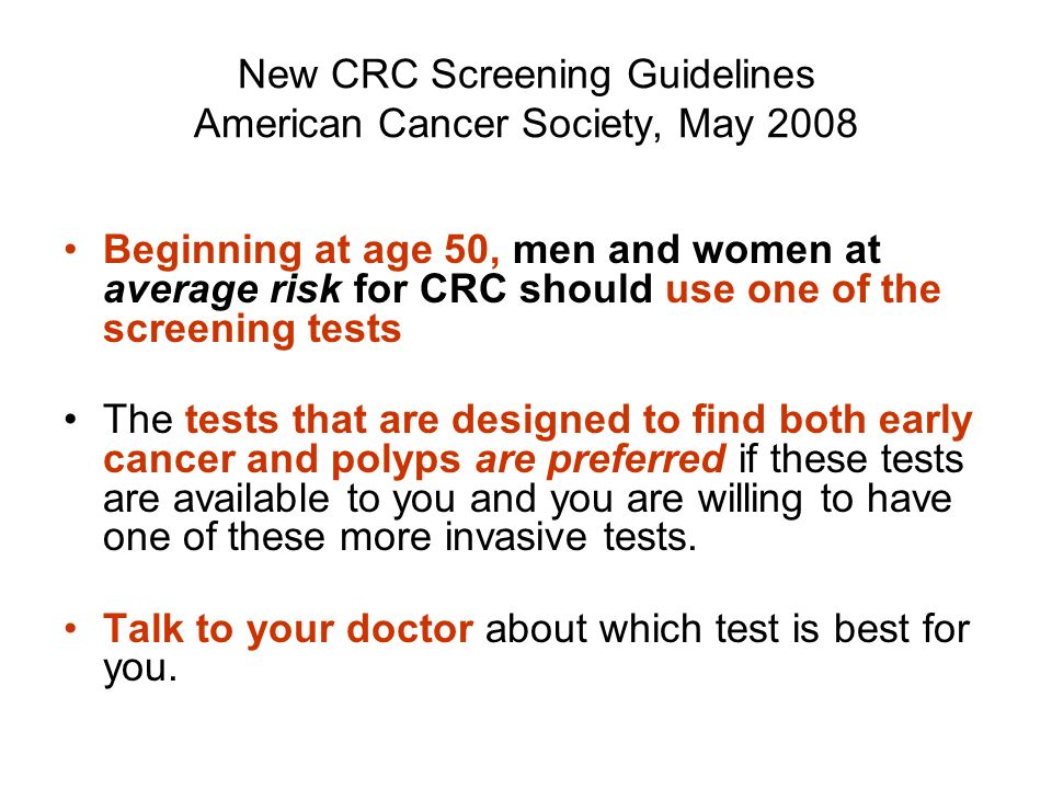 Overview Of Colorectal Cancer And Crc Screening Program