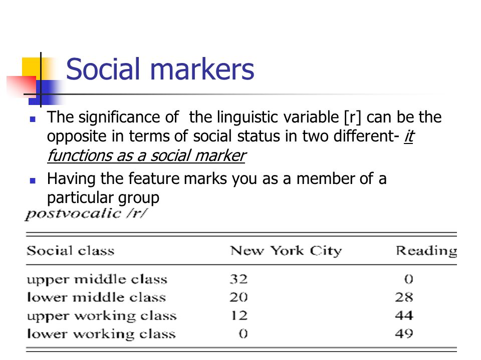 Social markers