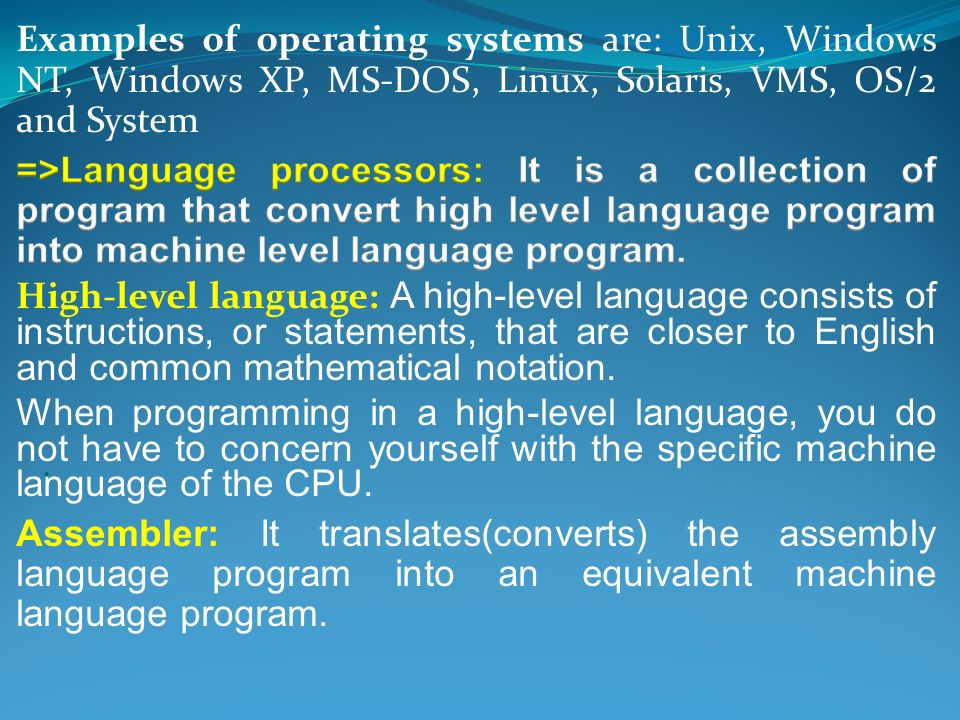 operation of assemblers essay