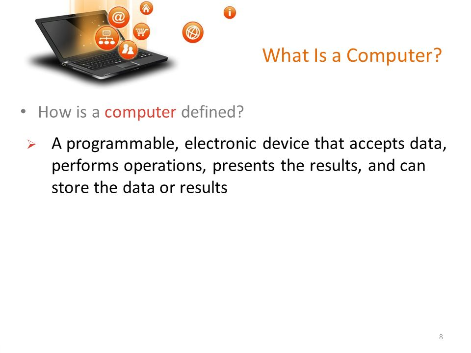 computer defined Computer definition is - one that computes specifically : a programmable usually electronic device that can store, retrieve, and process data how to use computer in a sentence one that computes specifically : a programmable usually electronic device that can store, retrieve, and process data.