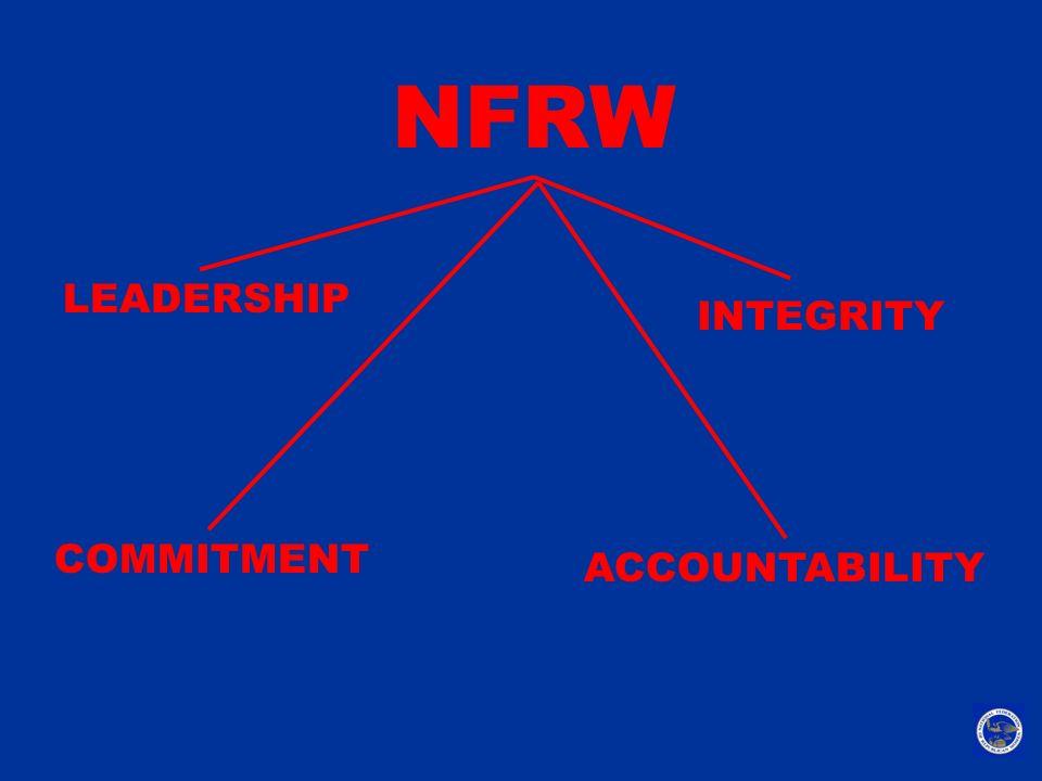 NFRW LEADERSHIP INTEGRITY COMMITMENT ACCOUNTABILITY