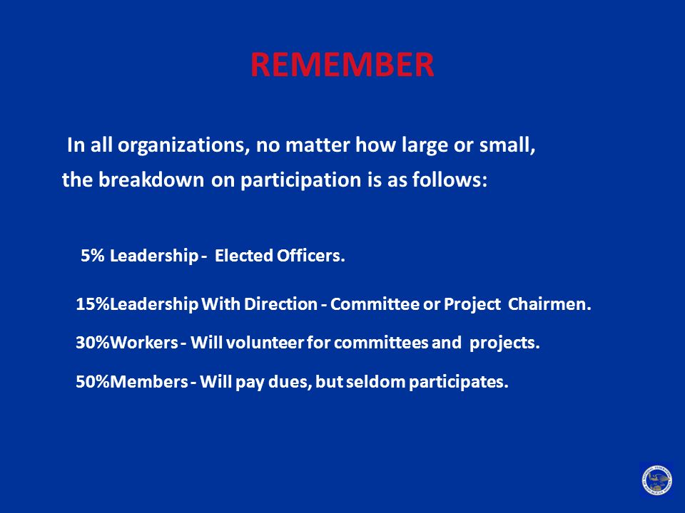 REMEMBER In all organizations, no matter how large or small,