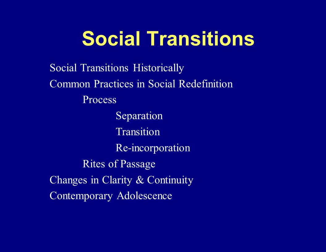 social redefinition