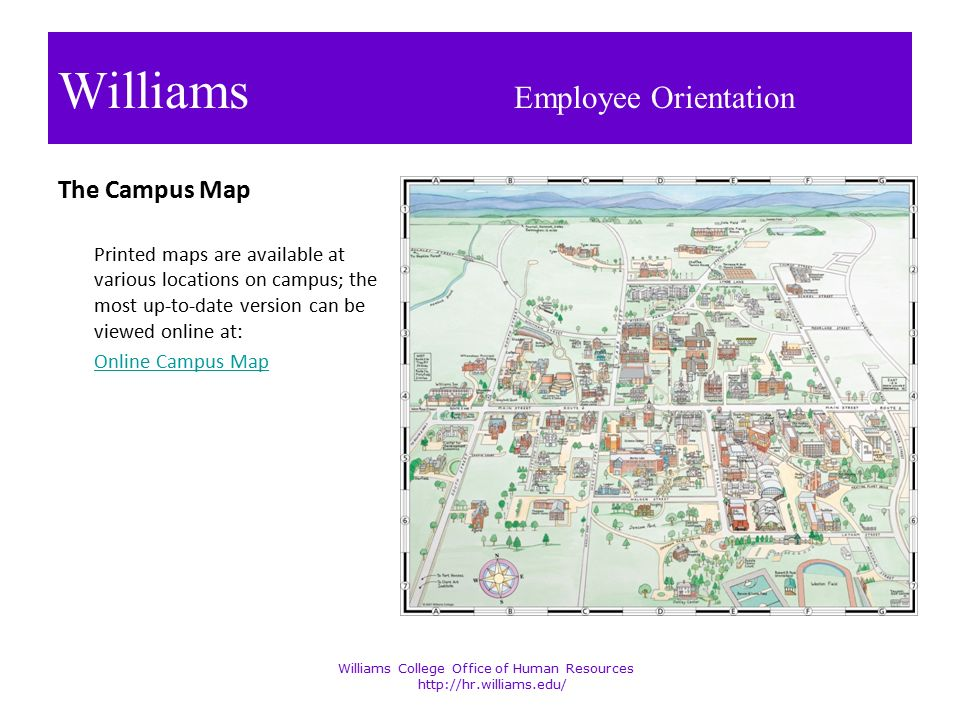 Welcome To Williams College Ppt Download - Williams college campus map