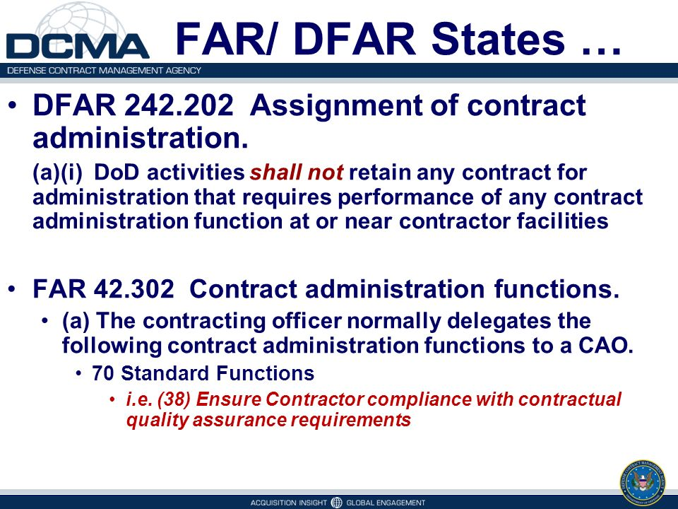 Defense Contract Management Agency Overview  Ppt Video Online