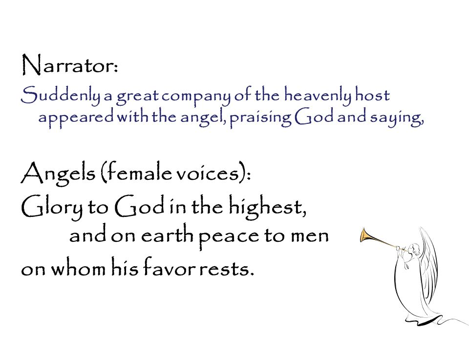 Angels (female voices):