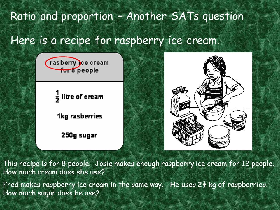 Ratio and proportion – Another SATs question
