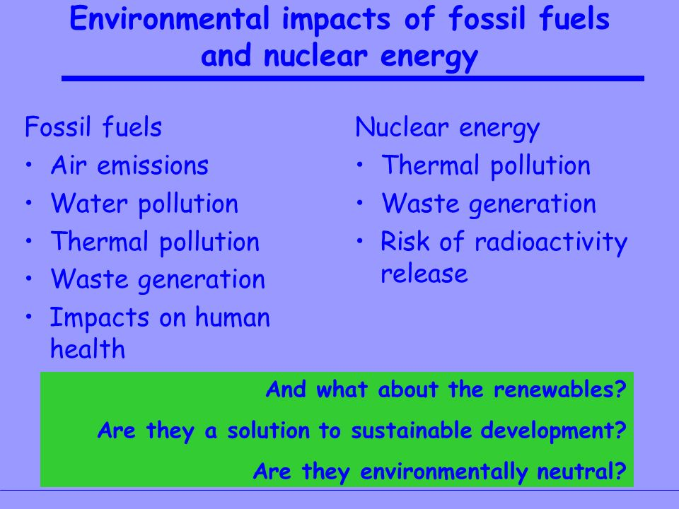 environmental impacts of fossil fuel use essay