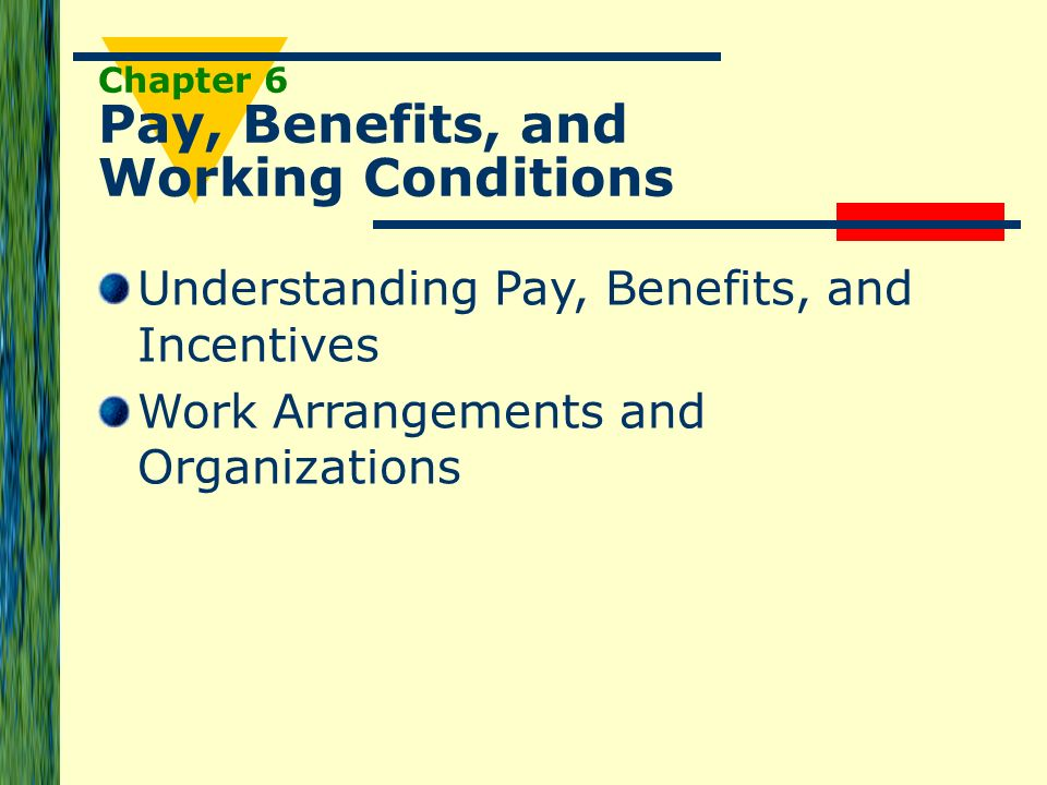 Chapter 6 Pay Benefits And Working Conditions Ppt Download