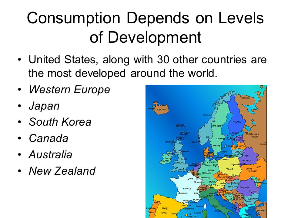 Consumption Depends on Levels of Development