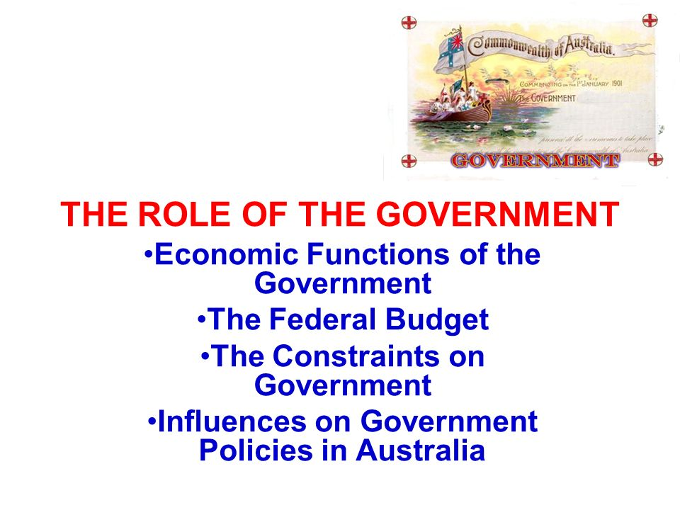 the role of government in australia The accc is australia's competition regulator and national consumer law champion we promote competition and fair trading and regulate national infrastructure to make.