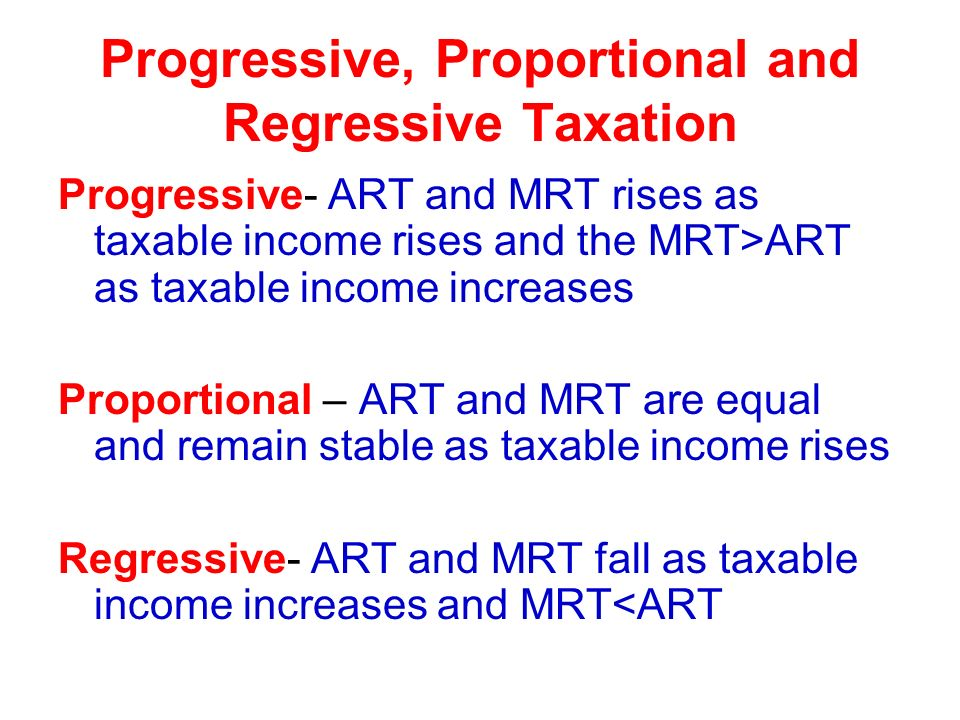 progressive tax and net income The personal income tax tends to be progressive, while consumption taxes and real estate taxes often absorb a larger share of the current income of the less well-off some reforms of tax and transfer systems entail a double dividend in terms of reducing.