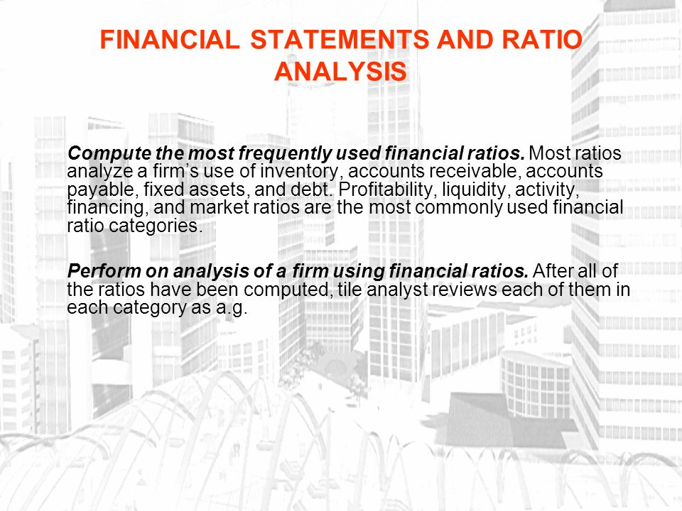 Financial Statements And Ratio Analysis - Ppt Download