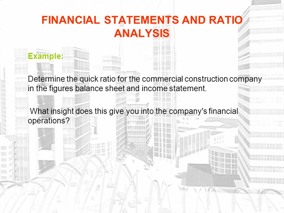 business ratio analysis Readyratios online software produces a complete financial analysis of your statements: more than 40 ratios and indicators, unique conditional comments, tables, diagrams and summary.