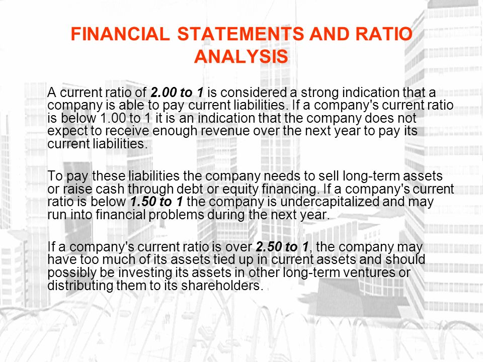 how to find current ratio from financial statements