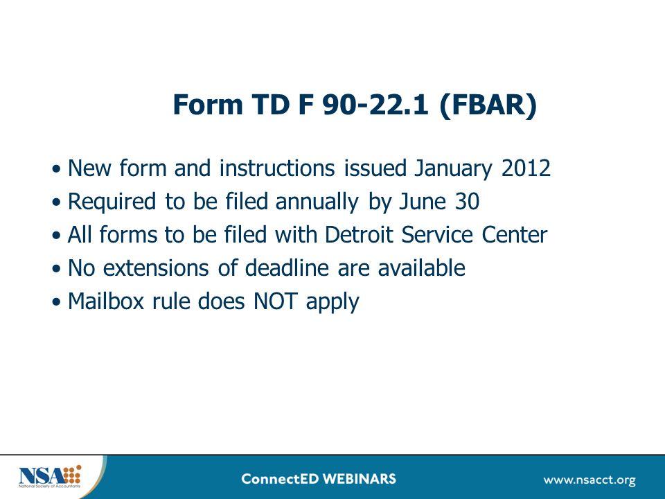 Td F 90 221 Form Ach Processing Time Frame
