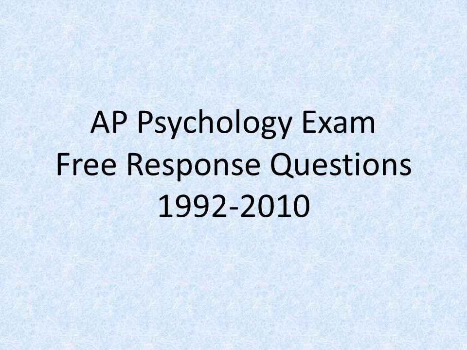 1999 ap psychology essay