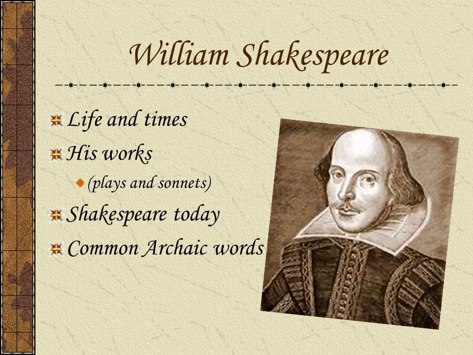 the life and works of william shakespeare essay